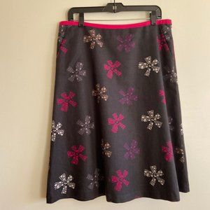 Laura Ashley Black and Pink Skirt